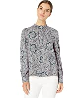 Kate Spade New York - Flair Flora Ruffle Neck Blouse