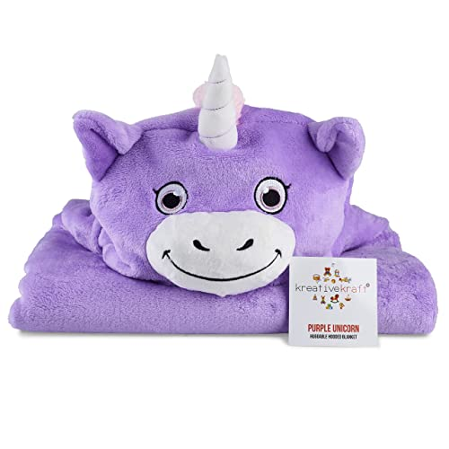 Kids Huggable Hooded Blanket – Plush Unicorn Blanket For Baby Boys   Baby  Girls - Kids a1e333ff6
