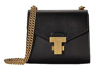 Tory Burch Juliette Chain Mini Bag (Black) Cross Body Handbags