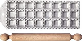 Eppicotispai 24 Holes Aluminum Square Ravioli Maker with Rolling Pin