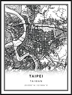 Best black and white map poster Reviews