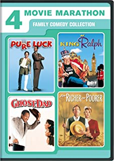 4 Movie Marathon: Family Comedy Collection: (Pure Luck / King Ralph / Ghost Dad / For Richer or Poorer)