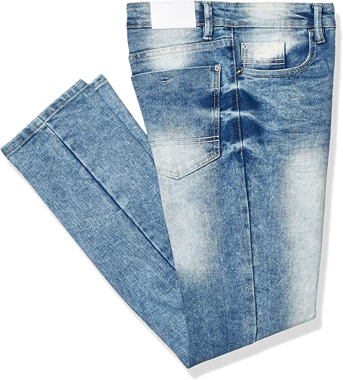 Southpole Boys Big Basic Flex Slim Straight Stretch Fit Washed Denim Pants