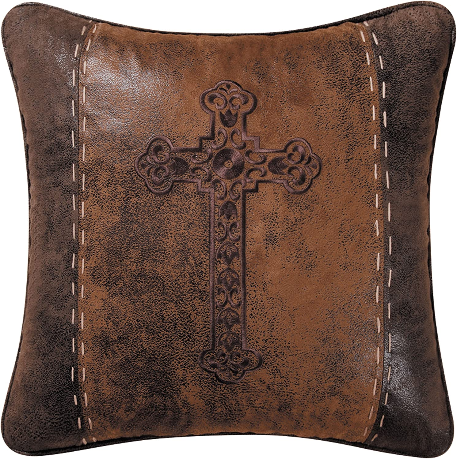 CF Home Cross Stitched 18 Store Luxury Pillow Multi x