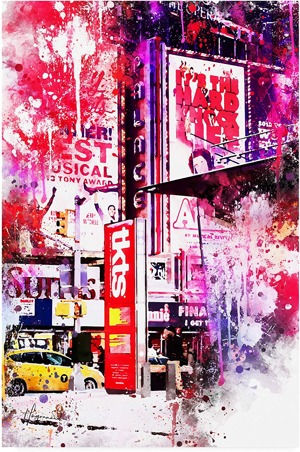 Trademark Fine Art NYC Watercolor Collection  Musical
