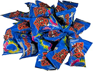Ring Pop's Individually Wrapped Jewel Shaped Hard Candy, Blue Raspberry, 20 Count