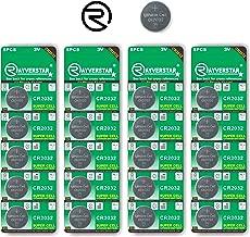 Rayverstar CR2032 3V Lithium Battery 20-Pack (4 x 5-Pack) Super Cell Technology. Long Lasting 3-Volt Batteries. Fits: BR2032, DL2032, SB-T15, 2032, EA2032C, ECR2032 (Full List Below)