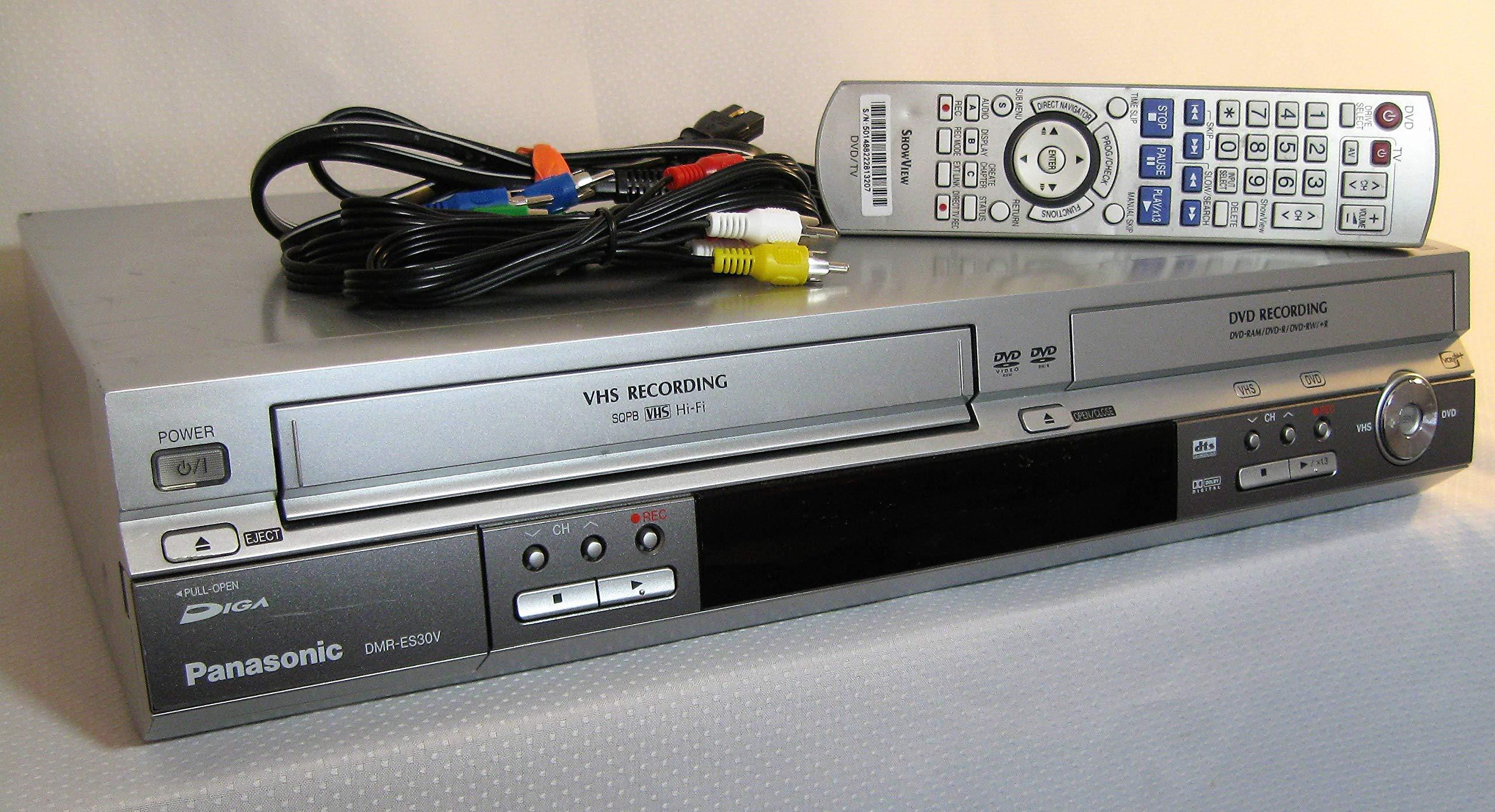 PANASONIC DMR ES30V DVD RECORDER COMBO