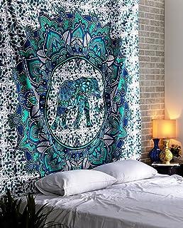 Bohemian Elephant Mandala Tapestry Indian Bedspread Tapestry By MONIKA ENTERPRISES