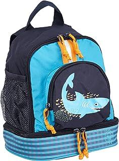 LÄSSIG Zainetto per bambini per Asilo o Tempo Libero con Cintura Toracica/ Mini Backpack, Shark Ocean