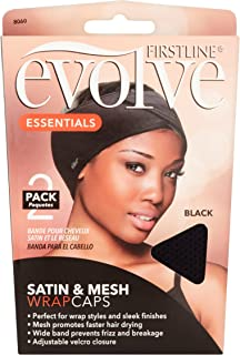 Evolve Satin and Mesh Wrap Caps 2 Pack