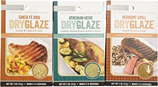 Urban Accents All Natural Gluten Free Grilling And Roasting DryGlaze 3 Flavor Variety Bundle: (1) Urban Accents Vermont Grill Maple & Spicy DryGlaze, (1) Urban Accents Athenian Herb Honey, Thyme & Sun-Dried Tomato DryGlaze, and (1) Urban Accents Santa Fe BBQ Honey & Chipotle Chili DryGlaze, 2 Oz. Ea. (3 Total)