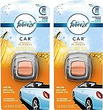 Febreze Car Vent Clip Air Freshener - Fresh-Fall Pumpkin - Holiday Collection 2017 - Net Wt. 0.06 FL OZ (2 mL) Per Vent Clip - Pack of 2 Vent Clips