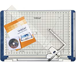 QuiltCut2 All-in-One Fabric Cutting System for Quilters - Includes Rotary Cutting Mat, Fabric Clamp, Cutting Guide, and Sp...