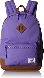 Herschel Heritage Youth Kid's Backpack, aster Purple/Saddle Brown, One Size