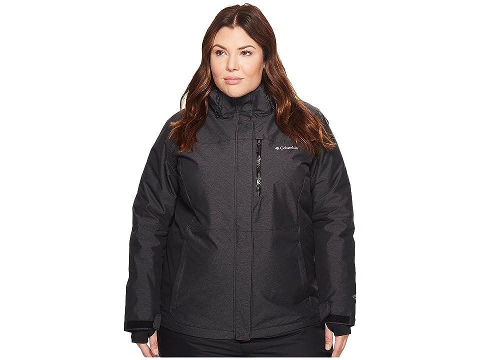 Columbia Plus Size Alpine Actiontm Omni-Heattm Jacket (Black Crossdye/Black) Women
