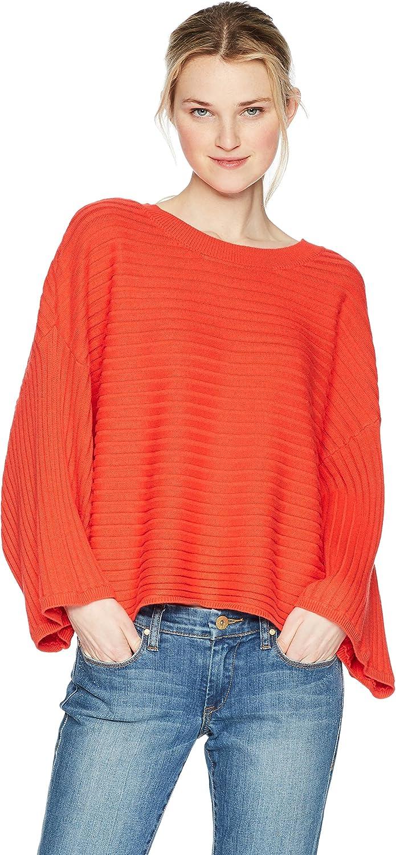 JACK Womens Standard Claudel Rib Stitch Wide Sleeve Sweater