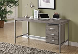 Monarch Specialties 7345 Writing Drawers-Contemporary Style-Home & Office Computer Desk with Metal Frame, 60