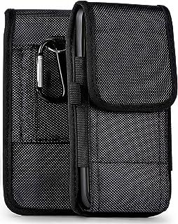 MoEx Funda cartuchera con Trabillas Compatible con HTC One M8 | Velcro y mosquetón, Noir