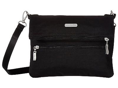 Baggallini Legacy Flip Zip Crossbody (Black/Sand) Cross Body Handbags