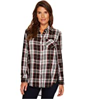 Tribal - Long Sleeve Plaid Shirt w/ Printed Back Detail