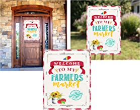 Farmers Market Themed Party Invitations Supply Decor (Welcome Poster)