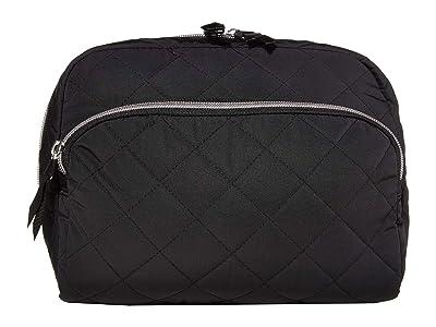 Vera Bradley Iconic Lay Flat Cosmetic (Black) Handbags