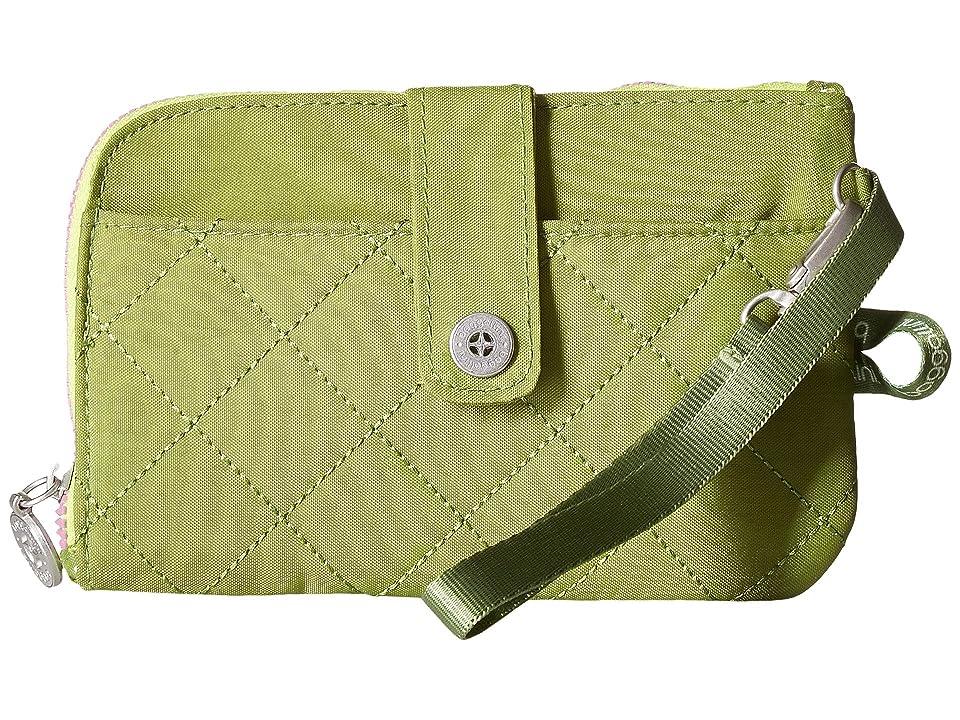 Baggallini RFID Passport Phone Wristlet (Green/Kiwi) Wristlet Handbags