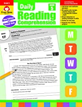 Evan-Moor Daily Reading Comprehension, Grade 5 Teaching Supplement - Homeschooling & Classroom Resource Workbook