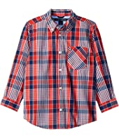 Tommy Hilfiger Kids - Everett Plaid Long Sleeve Shirt (Big Kids)