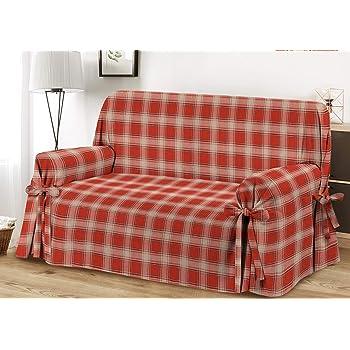 HomeLife – Cubre sofá de 3 plazas – Elegante Protector de sofás a Cuadros – Funda de sofá de