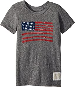 Vintage Tri-Blend American Flag Tee (Toddler)