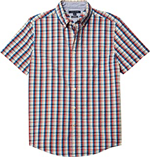 Men's Short Sleeve-Button Down Shirt in Custom Fit