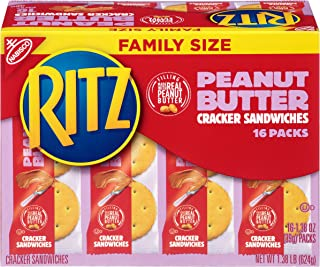 Ritz Peanut Butter Cracker Sandwiches, Family Size, 16 Count Individual Snack Packs