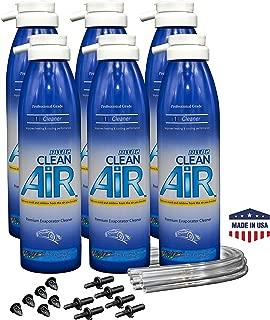 DWD2 Clean Air Premium Automotive AC Evaporator Cleaner 8.oz Renew Your air Conditioner! (Unscented) - 6 Pack