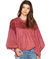 Free People - Have It My Way Embroidered Top