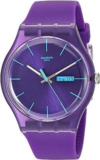ساعت پلاستیکی ساعت مچی کوارتز بنفش SUOV702 Swatch مردانه