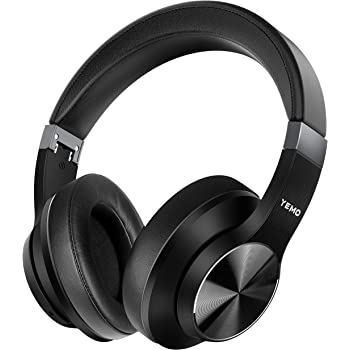 [Updated 2020 Version] High-End Hi-Fi Active Noise Cancelling Headphones apt-X Bluetooth Headphones with Microphone Deep Bass Wireless Headphones Over Ear, Comfortable Protein Earpads