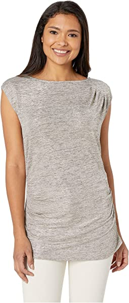 Sleeveless Top with Ruching