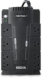 CyberPower CP550SLG Standby UPS System, 550VA/330W, 8 Outlets, Compact