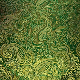 Metallic Paisley Brocade Fabric 60