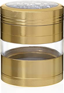 MojoGrinders Top Rated Premium Spices Tobacco Herb Tea Grinder - 4 Piece With Pollen Catcher, Aircraft Grade Quality Aluminum, Large 3.25 Inches Height x 2.5