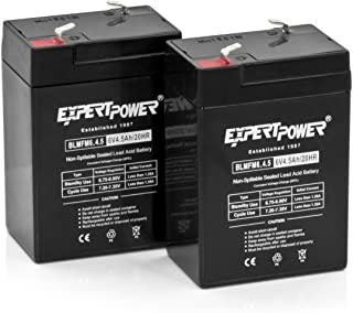 Expertpower Expertpower 6 Volt 4.5 Amp Rechargeable Battery (exp645), 2 Count