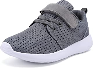Boys Girls Sneakers Kids Lightweight Breathable Strap...