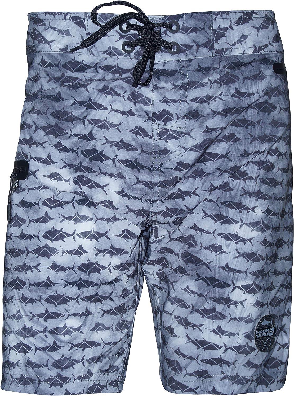Hook & Tackle Men's Gamefish Camo Boardshort | Fishing Swim Short | Board Shorts