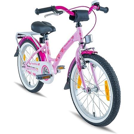 Prometheus Bicicleta Infantil Para Niña 18 Pulgadas | Rosa Lila | a Partir de 6 Años | V-Brake y Freno de Contrapedal | 18\
