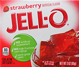 Jell-O Gelatin Dessert, Strawberry Flavor, 3-Ounce Box (Pack of 5)