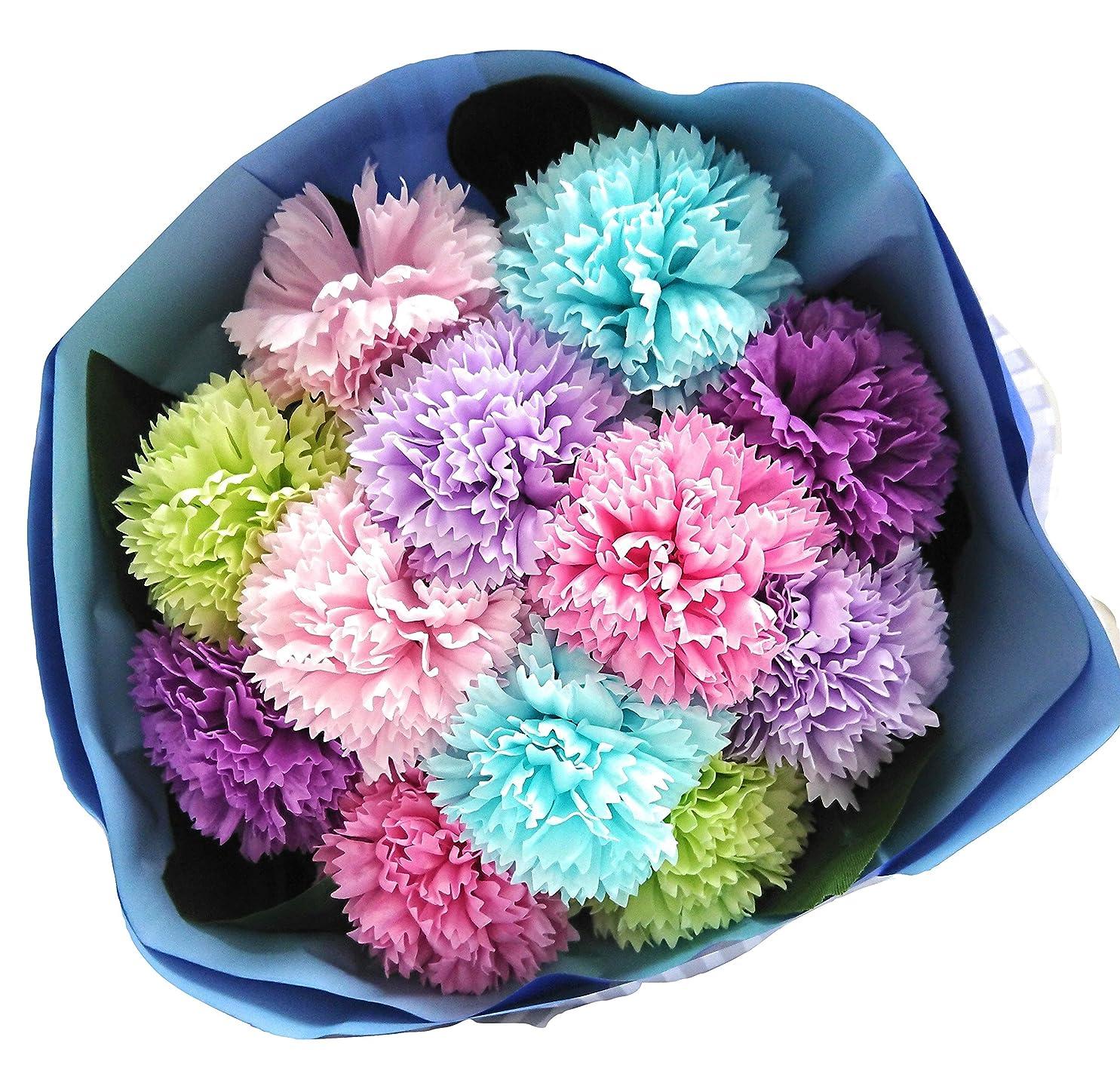 放射能砲撃フォアタイプバスフレグランス バスフラワー カーネーションブーケ 母の日 ギフト お花の形の入浴剤 (MIX)