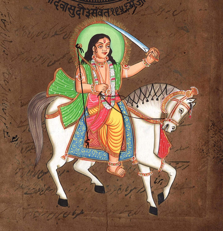 Amazon.com Kalki Final Vishnu Avatar Art Handmade Stamp Paper ...