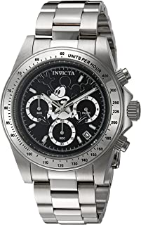 Invicta 22864 Watch Men's Disney Edition Quartz Stainless Steel Casual, Silver-Toned